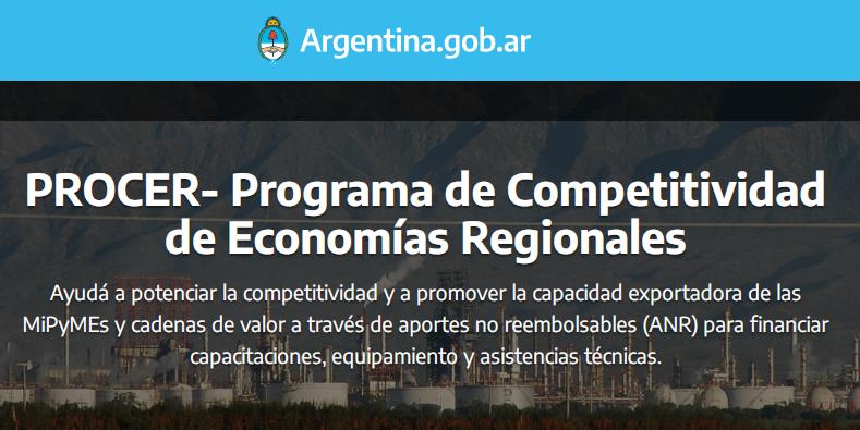 PROCER- Programa de Competitividad de Economías Regionales
