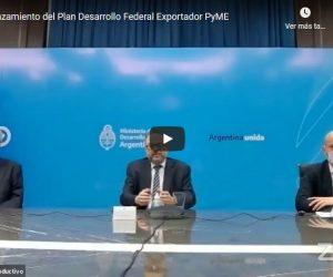 Lanzamiento del Plan Desarrollo Exportador PyME