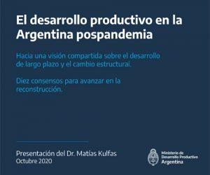 El desarrollo productivo en la Argentina pospandemia