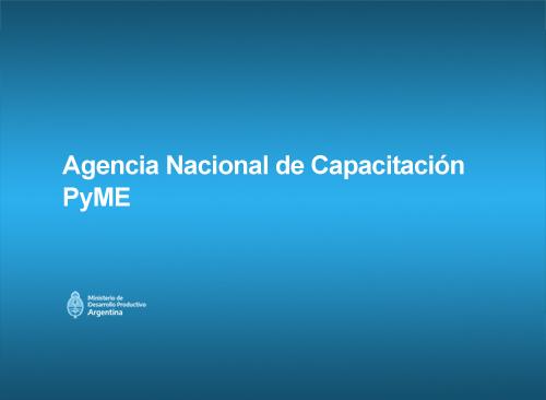 El ministro de Desarrollo Productivo de la Nación, Matías Kulfas, presentó la Agencia Nacional de Capacitación PYME.