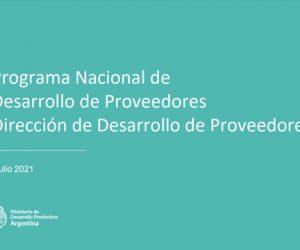 Programa Nacional de Desarrollo de Proveedores PRODEPRO – Edición 2021.