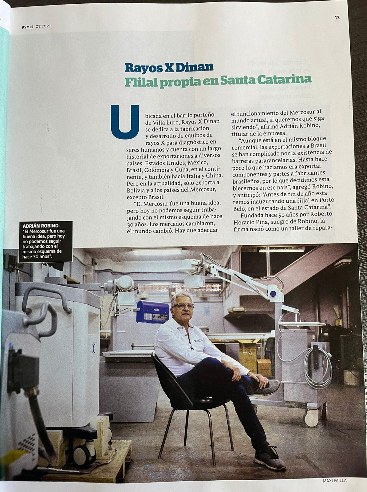 Rayos X Dinan. Apertura de una nueva planta en Brasil.
